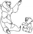Disney Brother Bear Look Coloring Pages