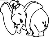Disney Dumbo Sad Coloring Pages