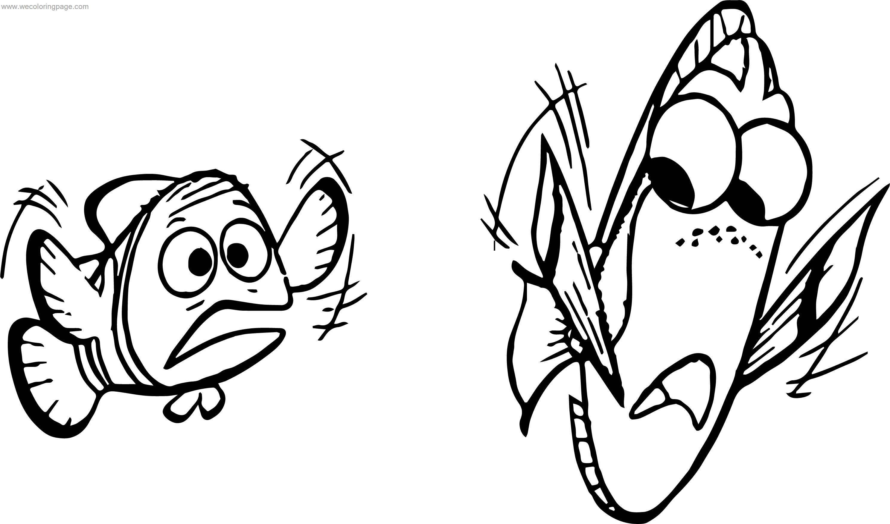 Disney Finding Nemo Help Coloring Pages