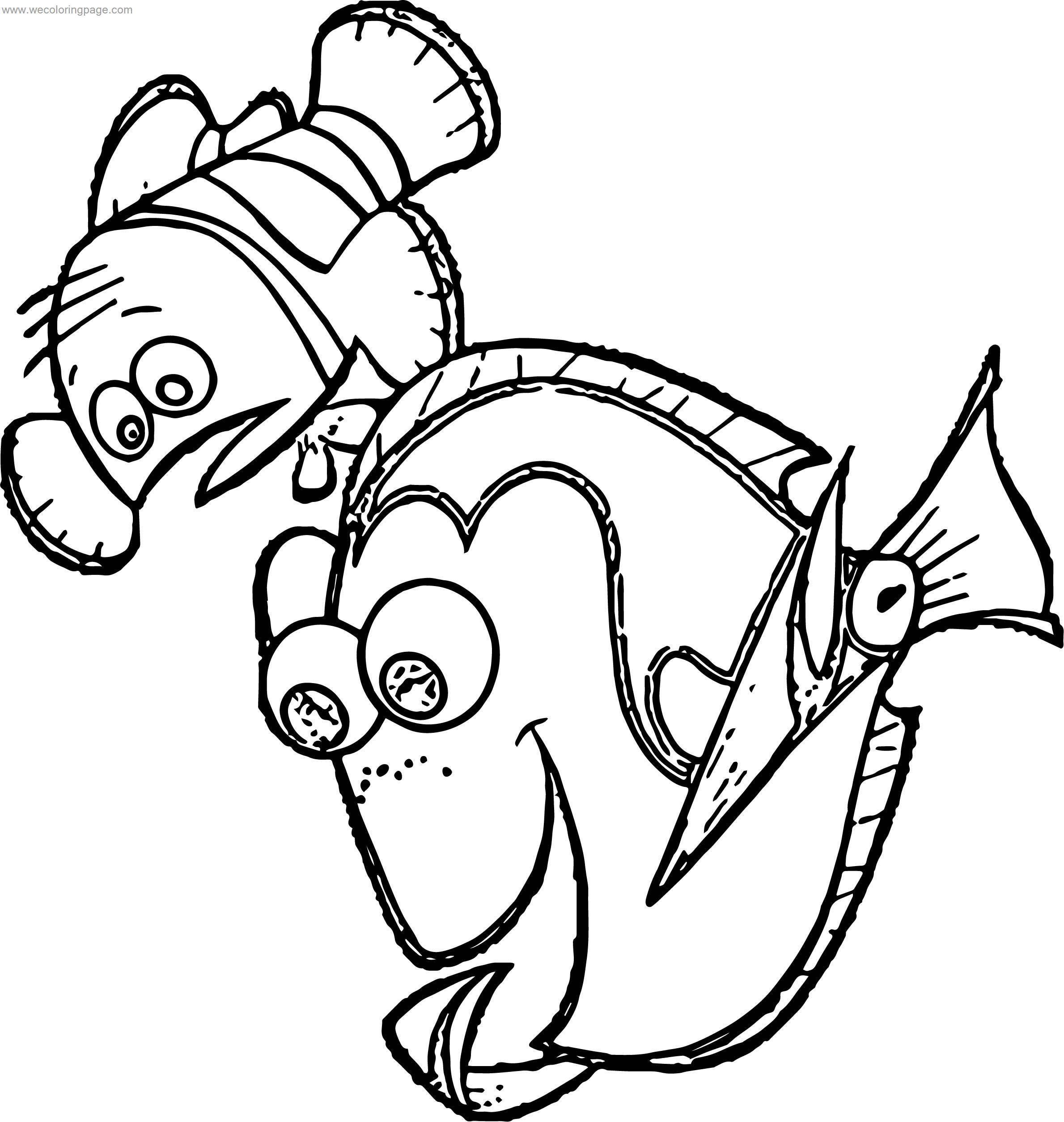 Disney Finding Nemo Look Now Coloring Pages