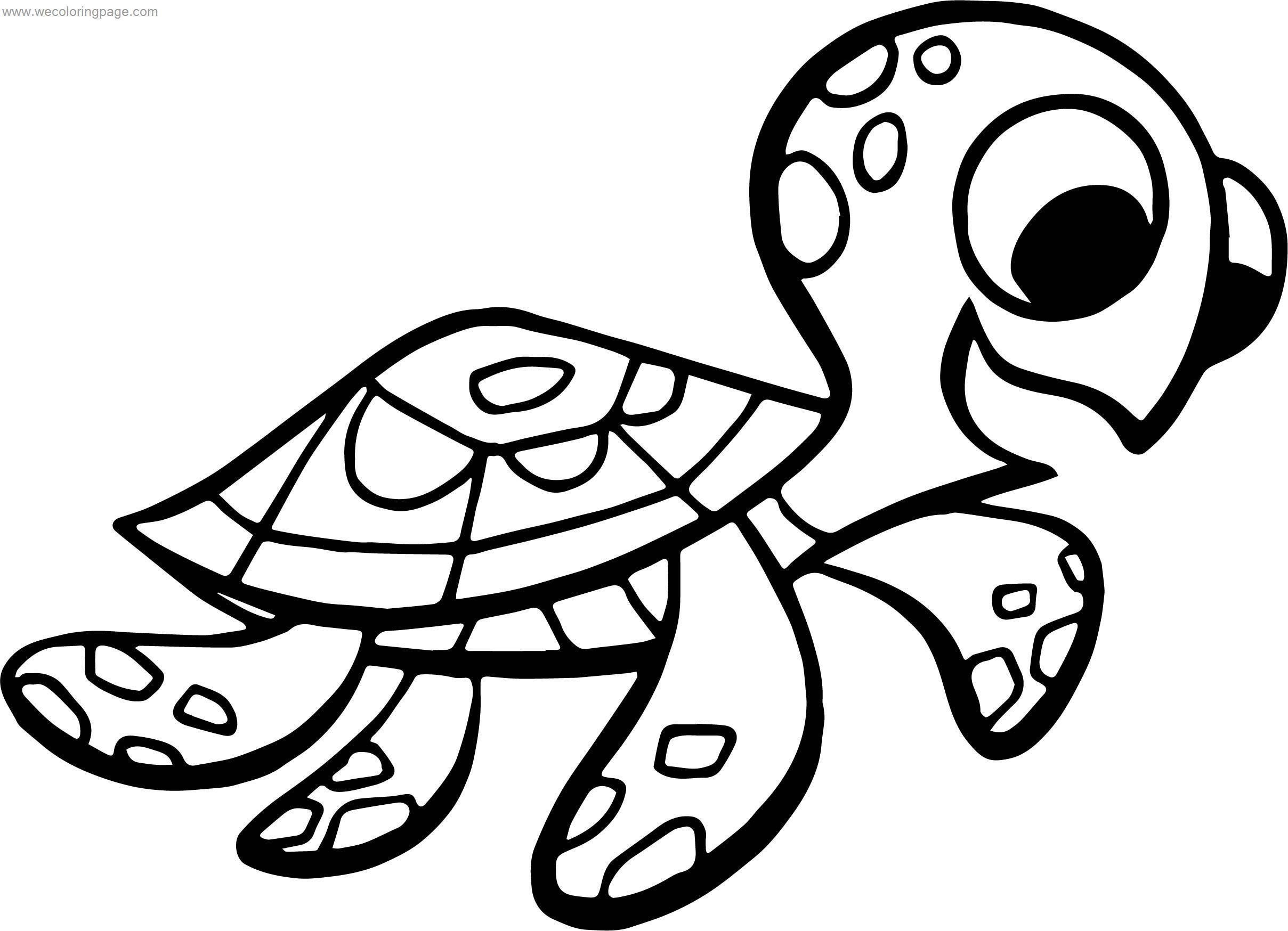 Disney Finding Nemo Small Turtle Coloring Pages ...