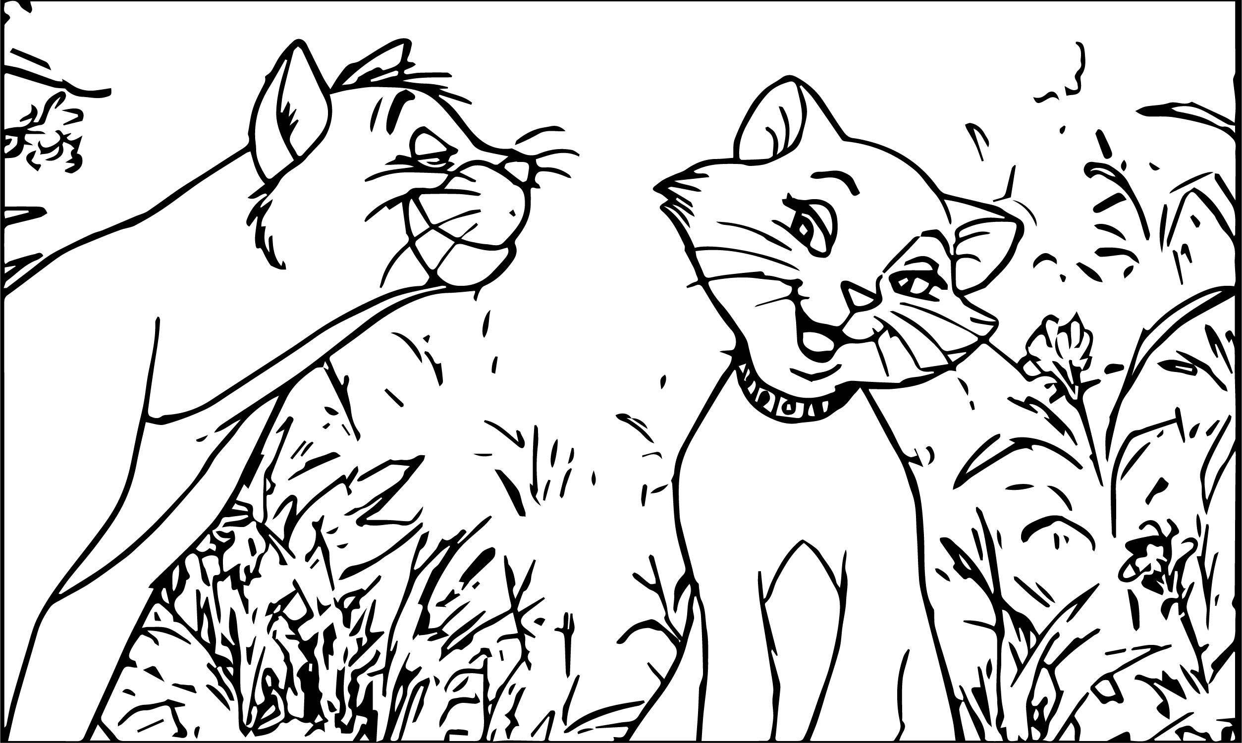 Disney The Aristocats Coloring Page 107