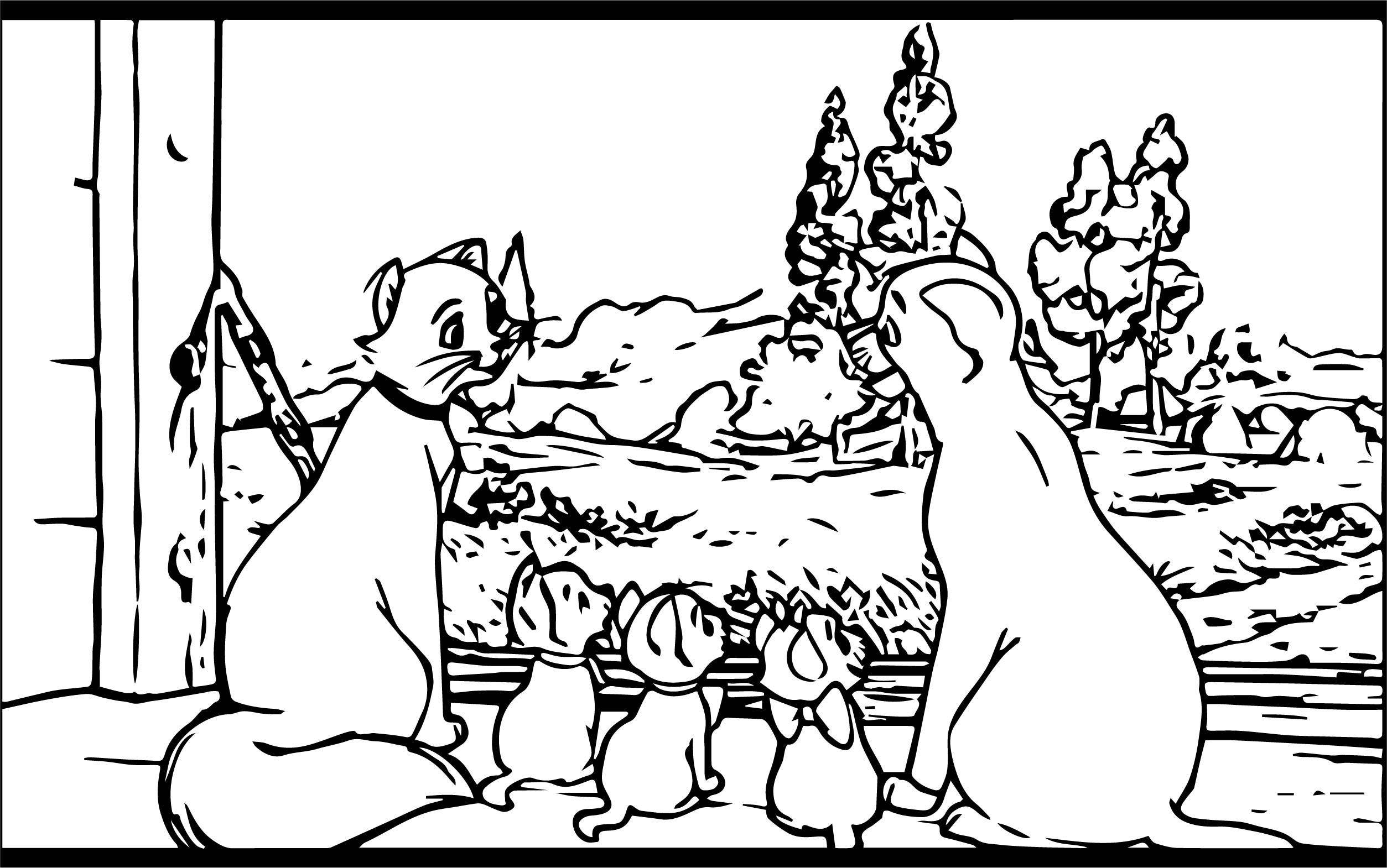 Disney The Aristocats Coloring Page 241