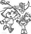 Dora The Explorer In The Street Coloring Page