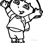 Dora The Explorer Jump Now Coloring Page