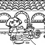 Dora The Explorer Movies And Tv Shows Coloring Page
