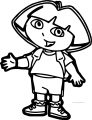 Dora The Explorer My Hand Coloring Page