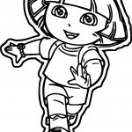Dora The Explorer Running Time Coloring Page