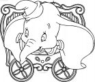 Dumbo Circus Frame Coloring Pages