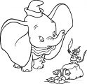 Dumbo Timothy Feather Coloring Page