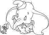 Dumbo Timothy Peanut Coloring Page
