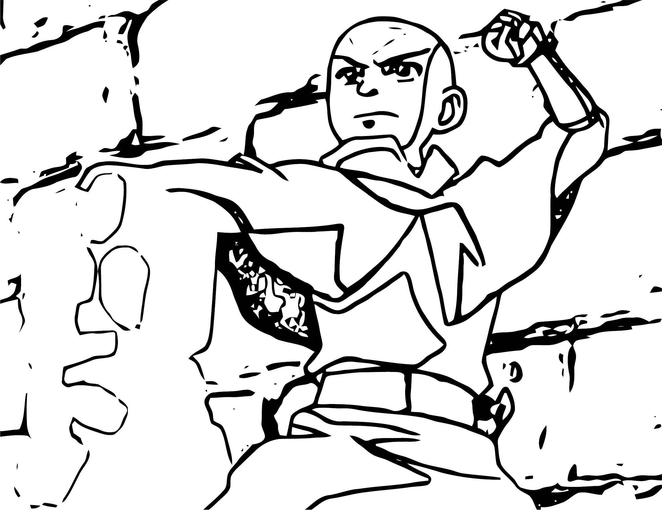 EarthbenderAanga Avatar Aang Coloring Page