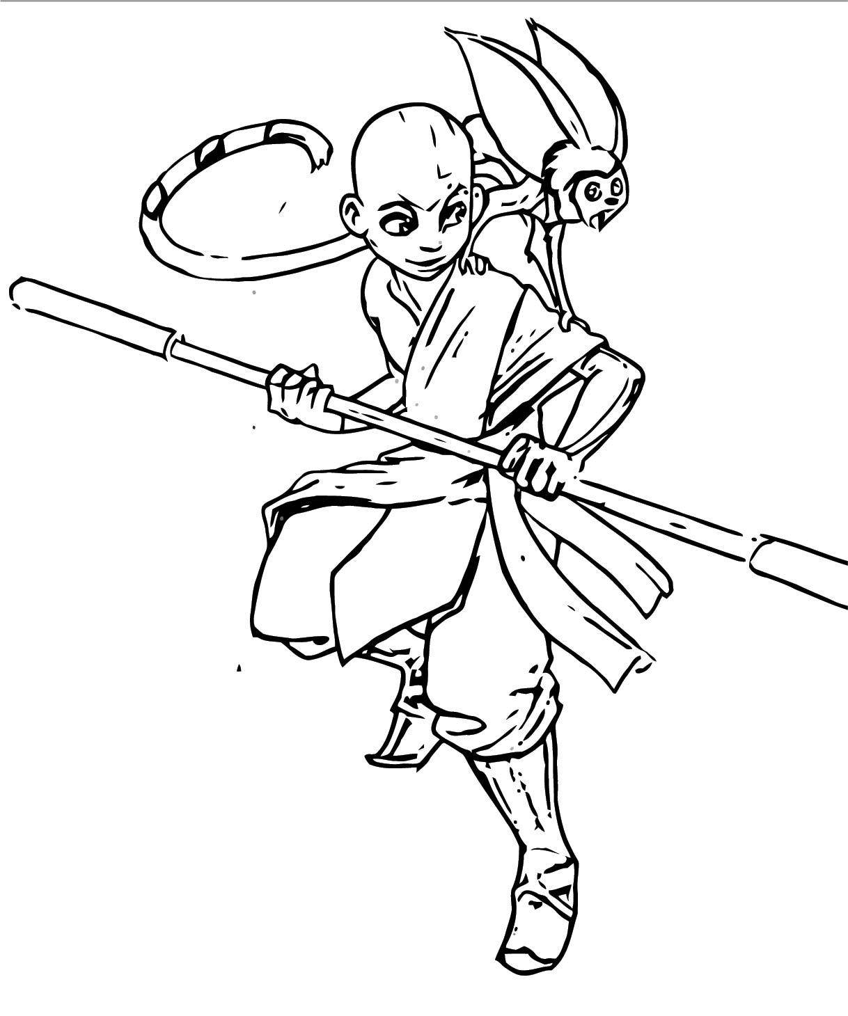 Ebab Avatar Aang Coloring Page