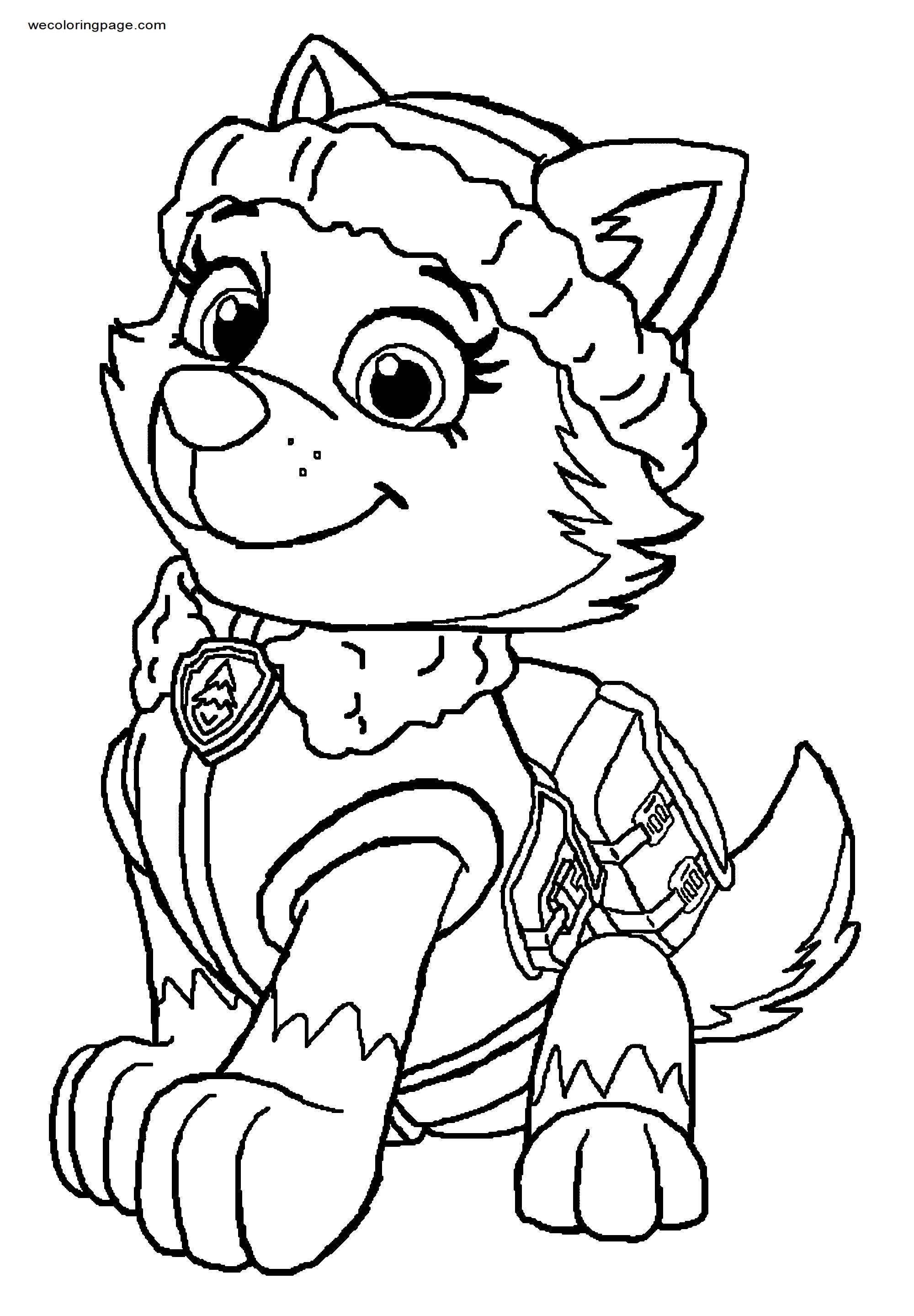 Everest Paw Patrol Dewl Coloring Page