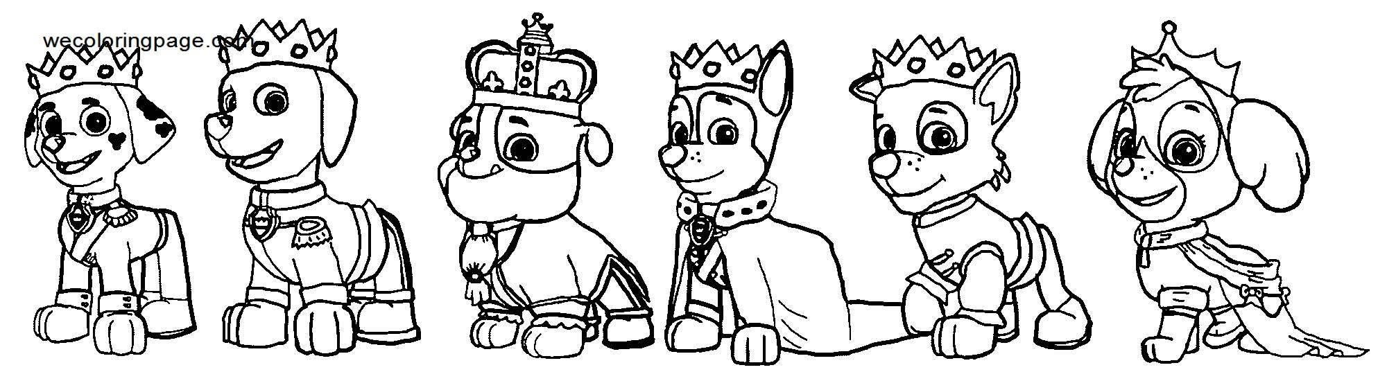 Fairytale Paw Patrol Matthew Coloring Page