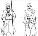 Fanon Aang Outfits Kuaishu Dyjoa Avatar Aang Coloring Page
