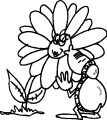 Flower Kiss Bug Coloring Page