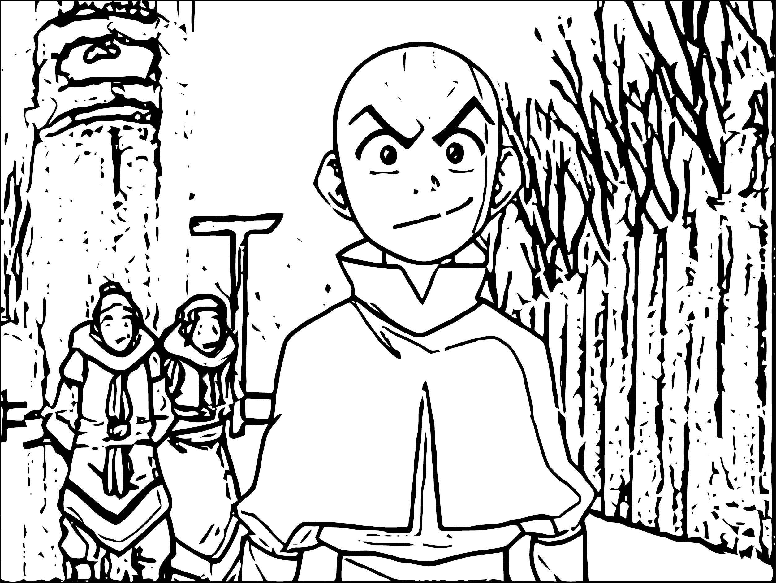 Giphy Avatar Aang Coloring Page