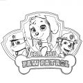 Girls Paw Patrol Pyjamas Pink Close Coloring Page