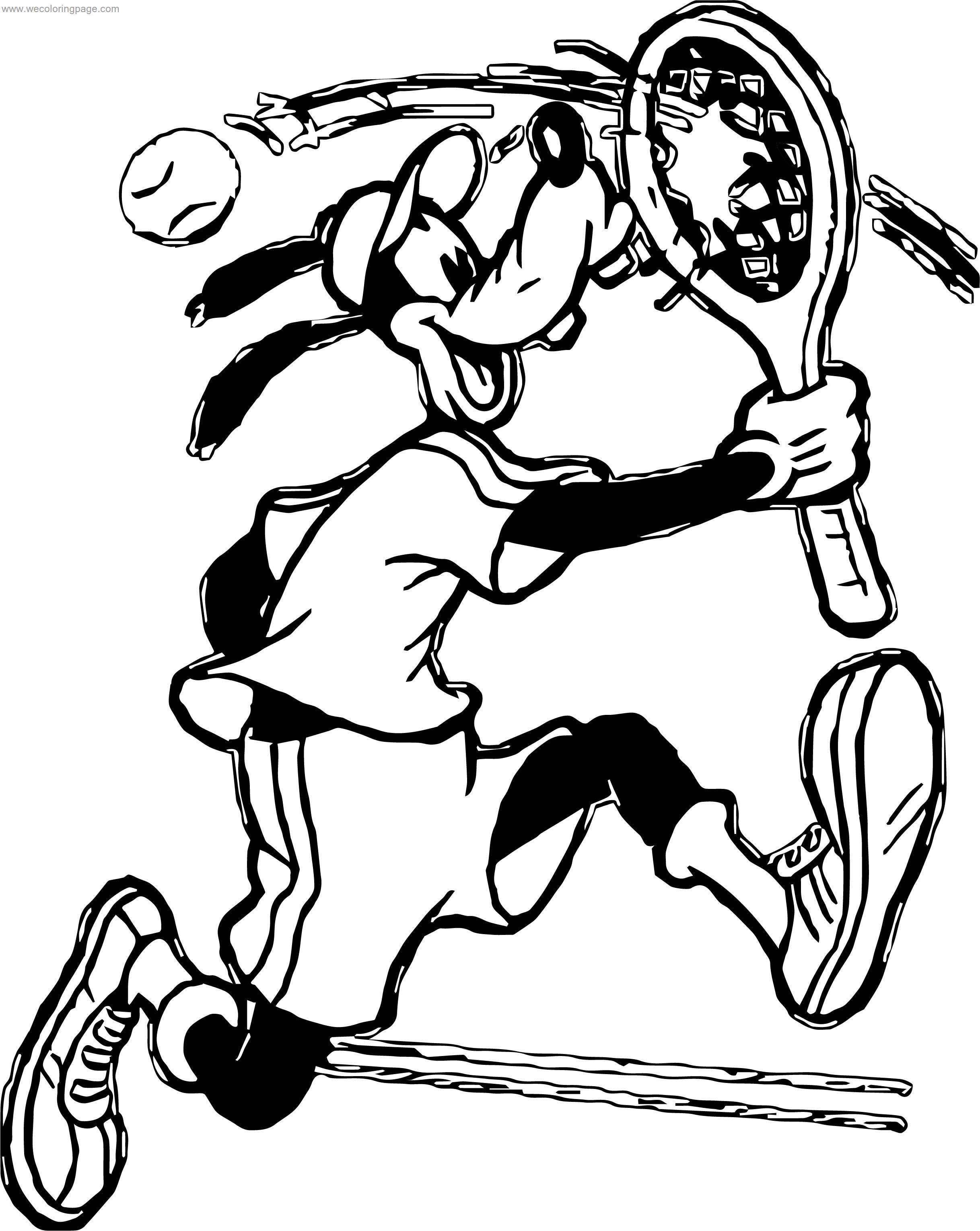 Goofy Tennis Coloring Page