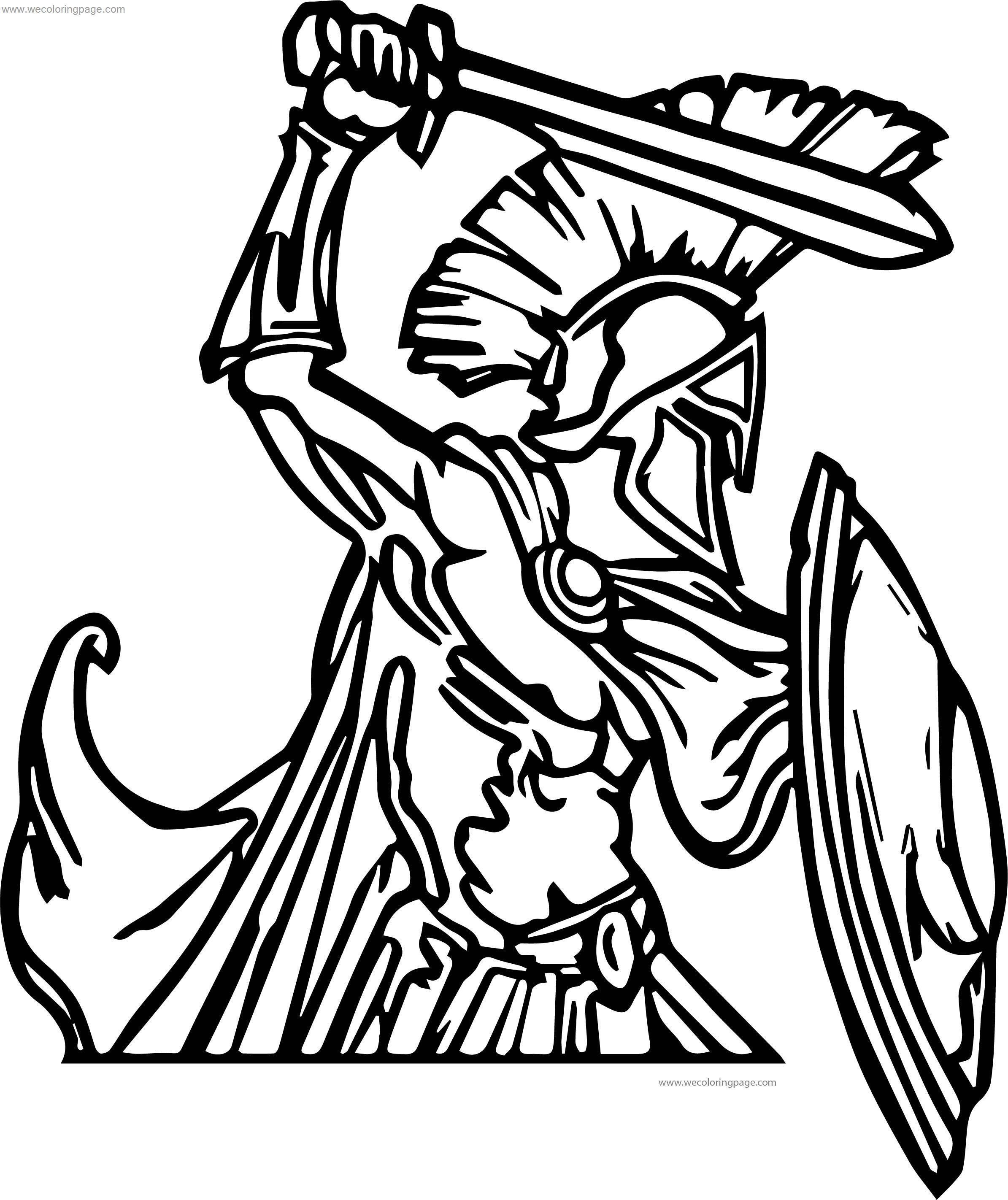 Greece Greek Soldier Coloring Page
