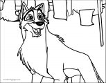 Happy Balto Wolf Coloring Page