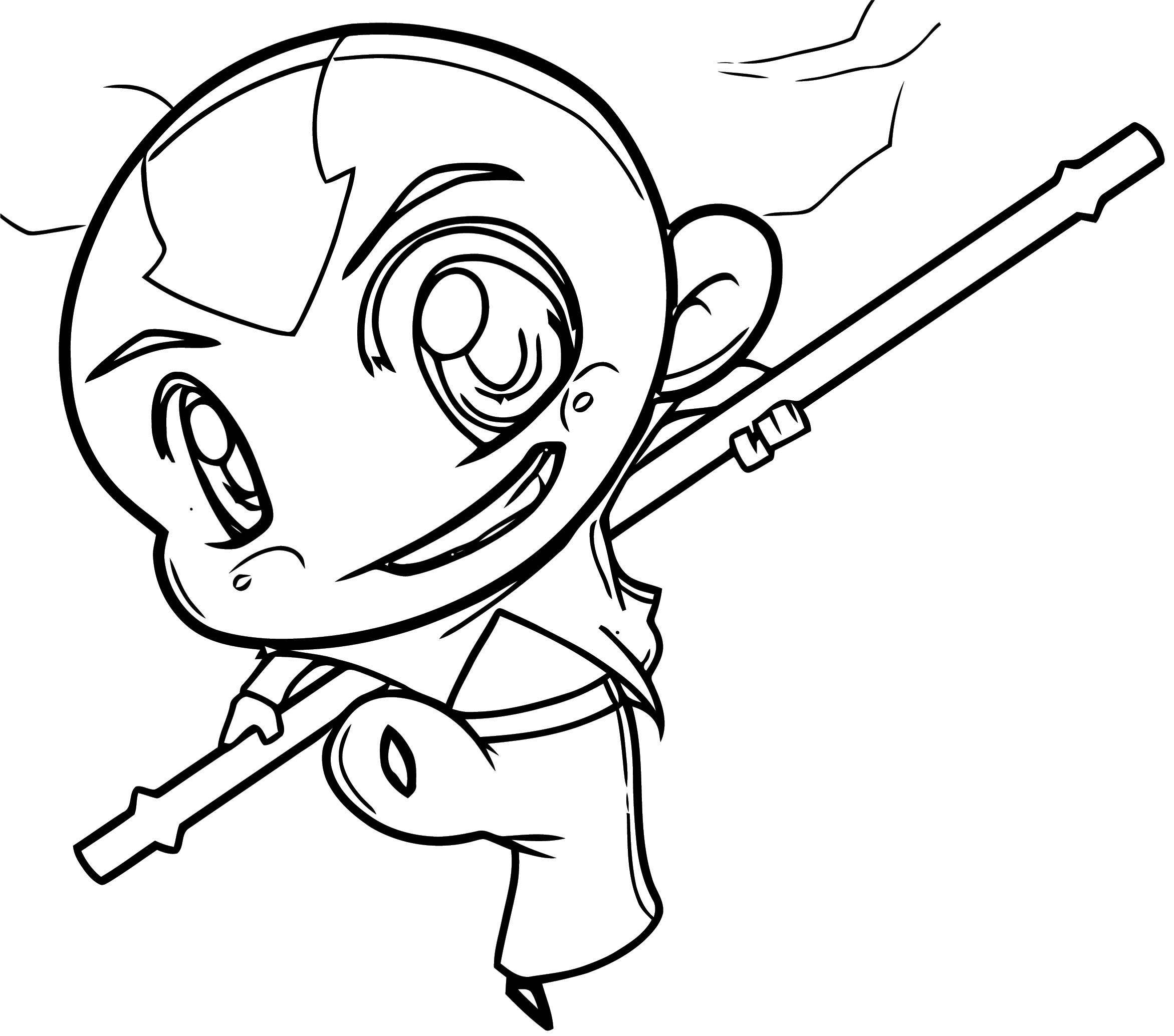 How To Draw Chibi Aang Avatar Aang Coloring Page