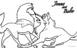 Jenna And Balto Wolf Coloring Page