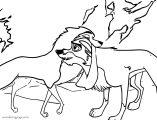 Jenna Bandana Wolf Coloring Page