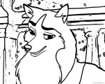 Jenna Happy About Balto Wolf Coloring Page