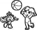 Jeux Dora Et Babouche Dora Coloringa Page