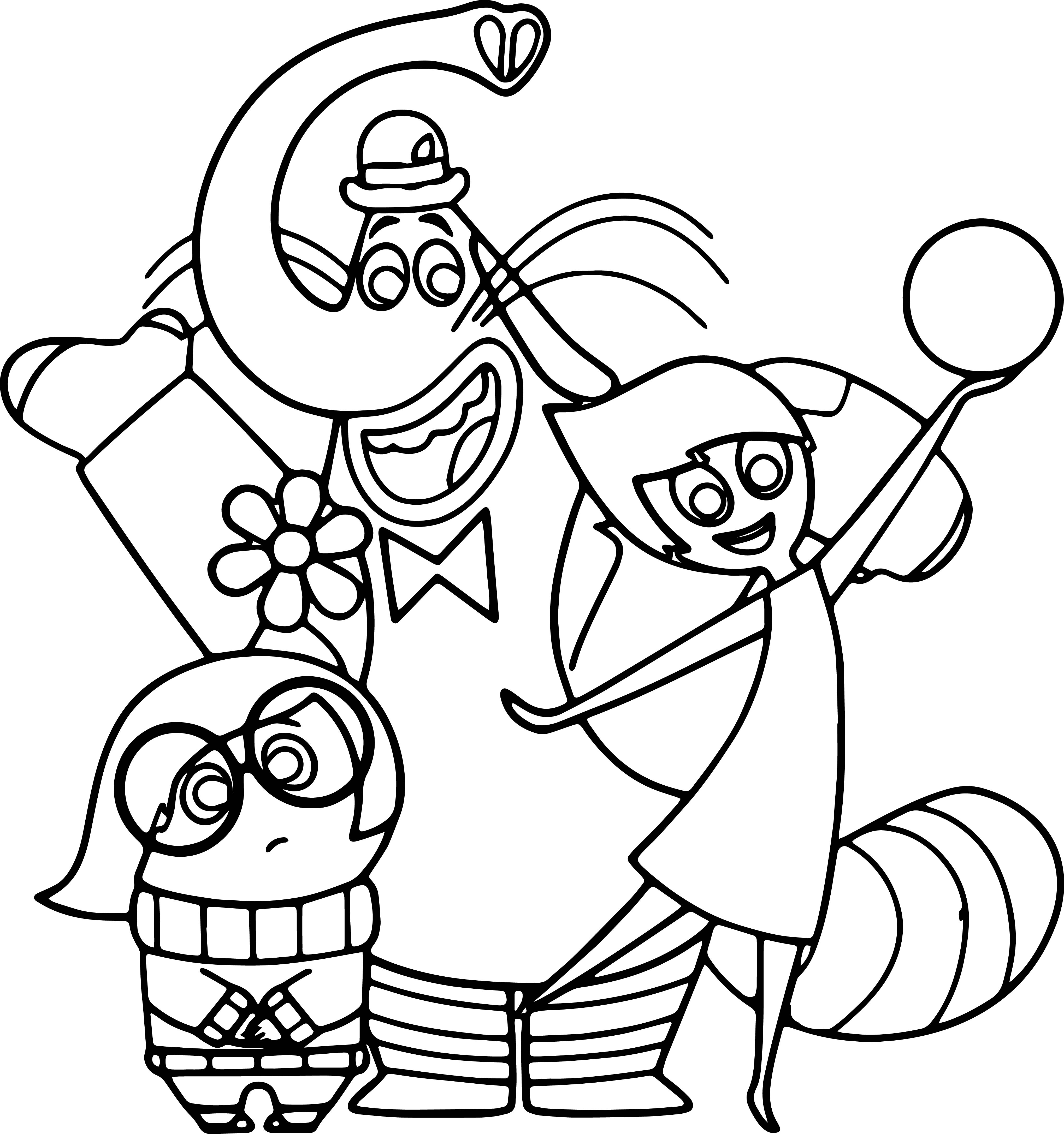 Joy Sadness Bingbong Coloring Pages