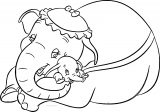 Jumbo Dumbo Hug Coloring Pages