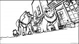 Kirby And Kodi Kirby From Balto Street Wolf Coloring Page
