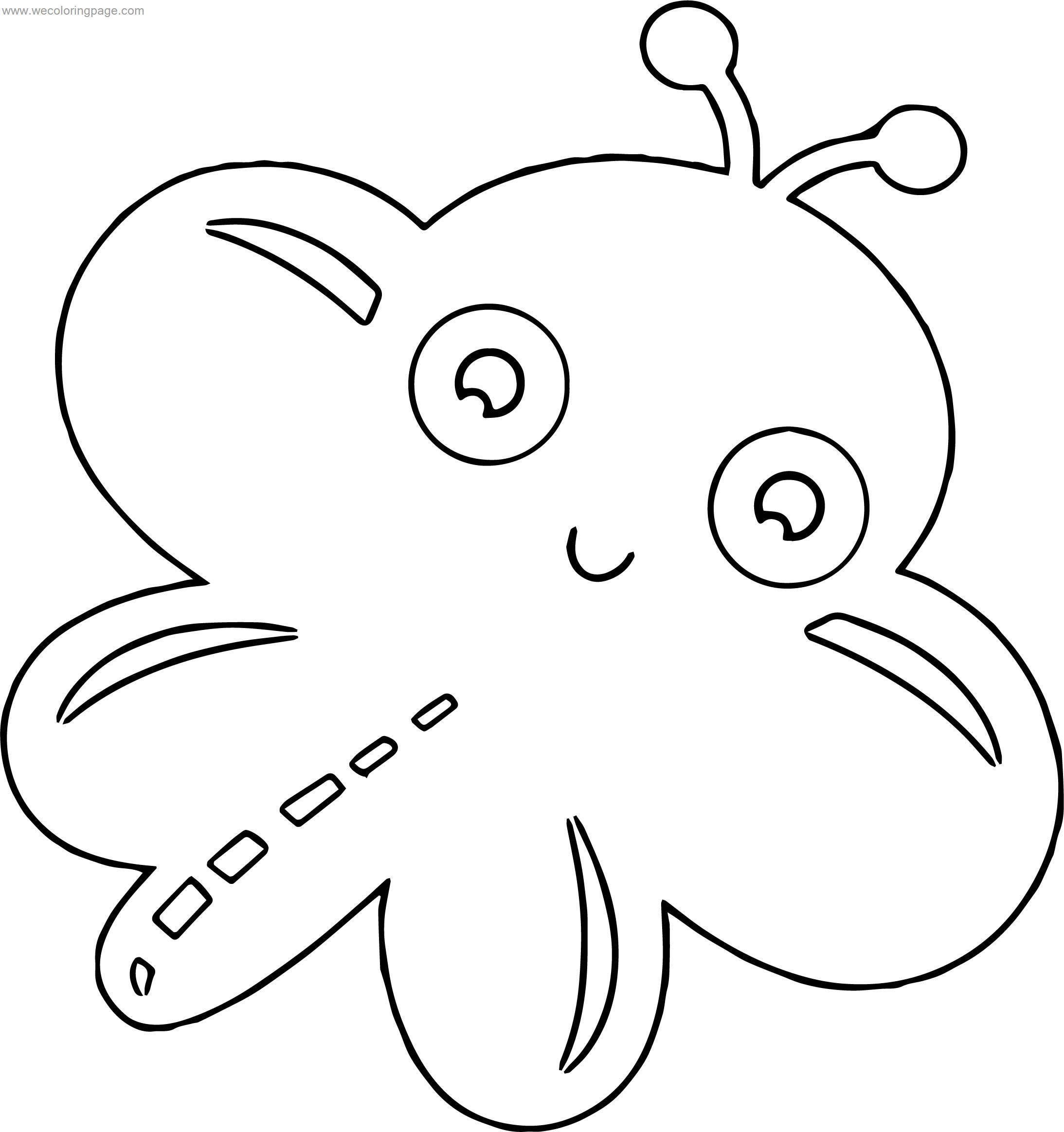 Large Cute Butterfly Coloring Page