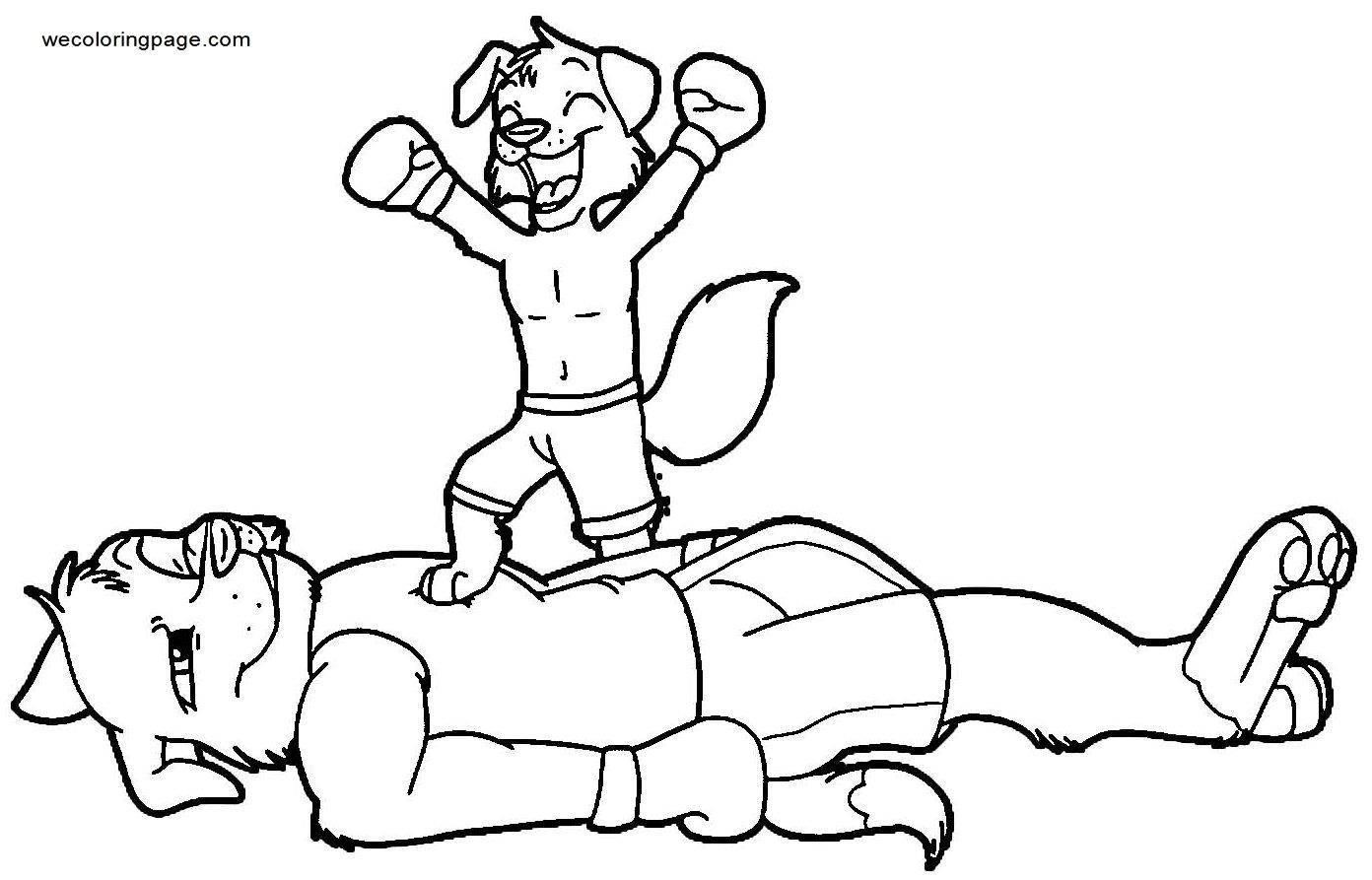 Little Victories Boxing Coloring Page