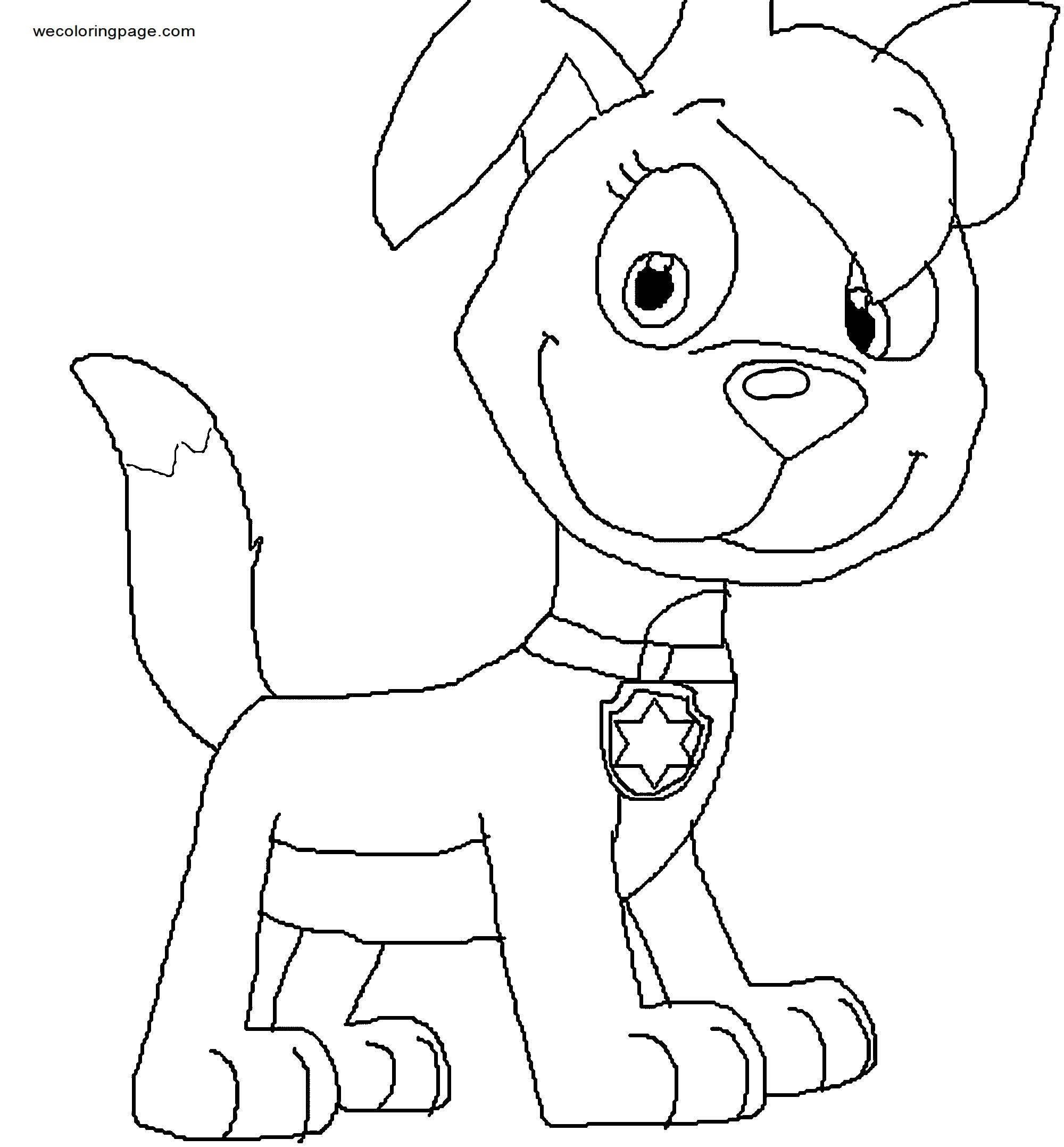 Luna The Dragon As A Paw Patrol Pup Coloring Page
