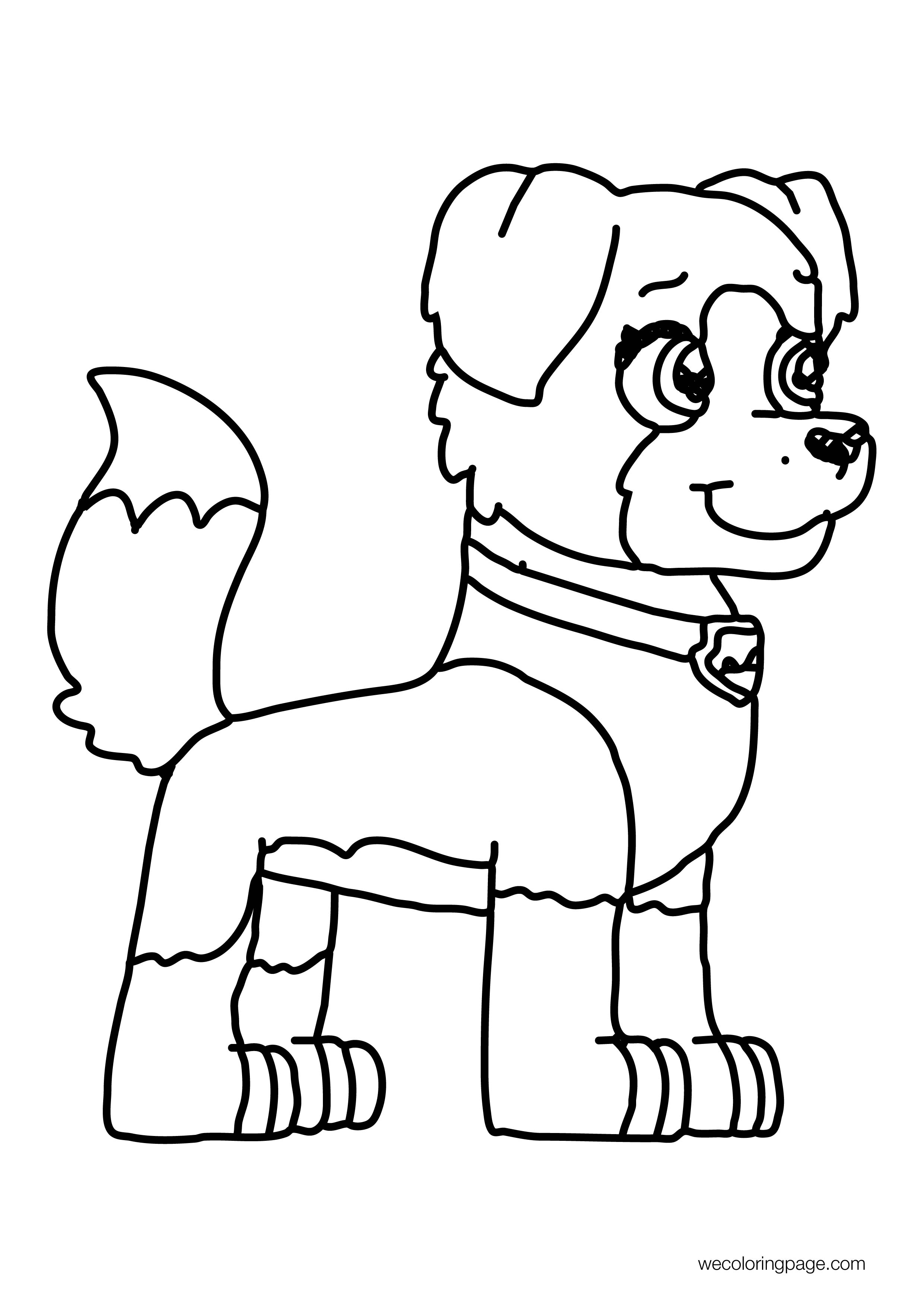 Mindy Paw Patrol Style Coloring Page
