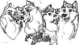 Mixed Balto S Family Wolf Coloring Page
