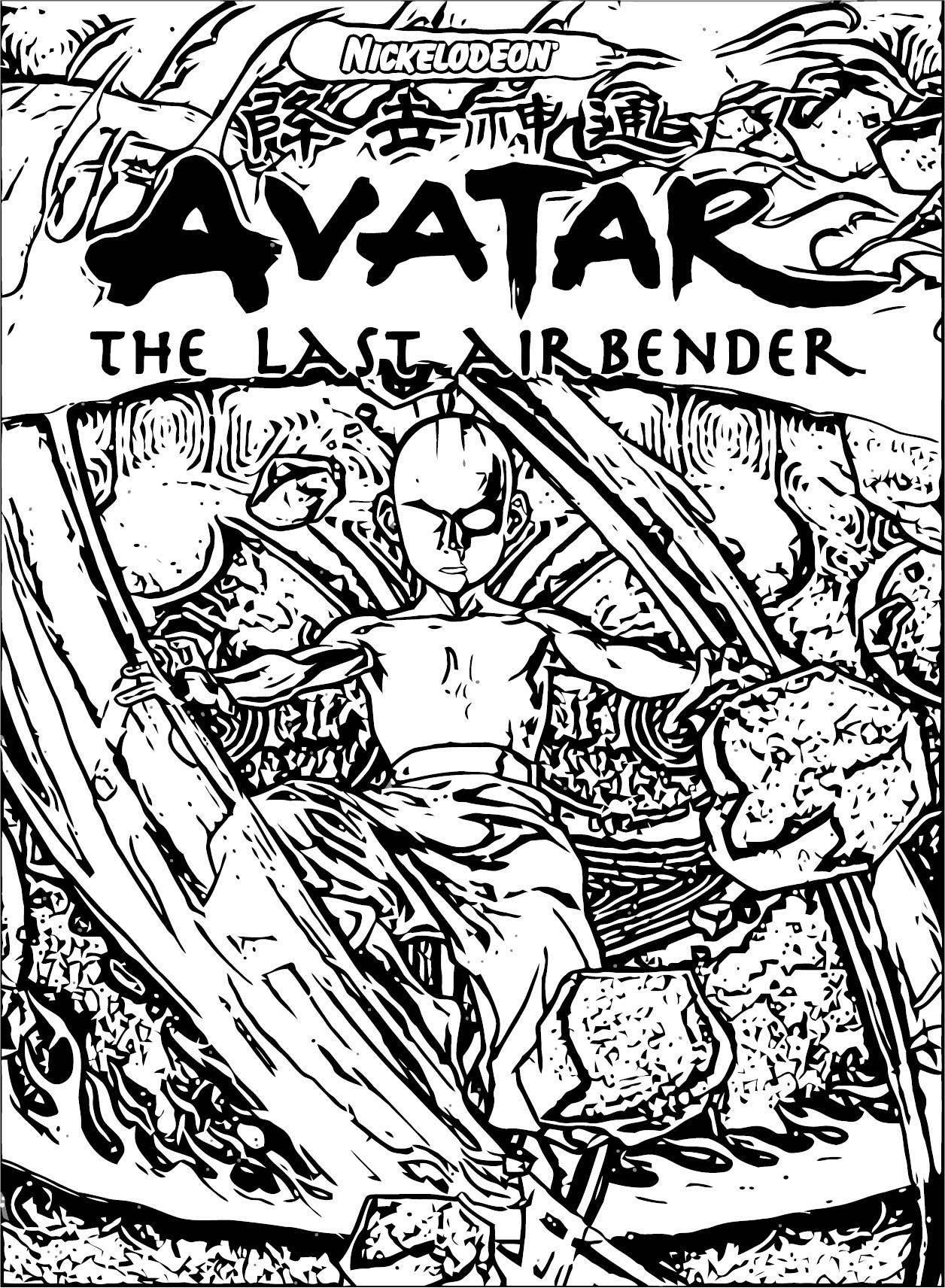 Nikelodeon Avatar Aang Anime HD Wallpaper Avatar Aang Coloring Page