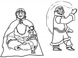 Old Aang And Katara Ingsoc Dnyjq Avatar Aang Coloring Page