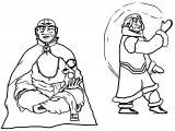 Old Aang And Katara Ingsoc Dnyjq Avatar Aang Coloring Page