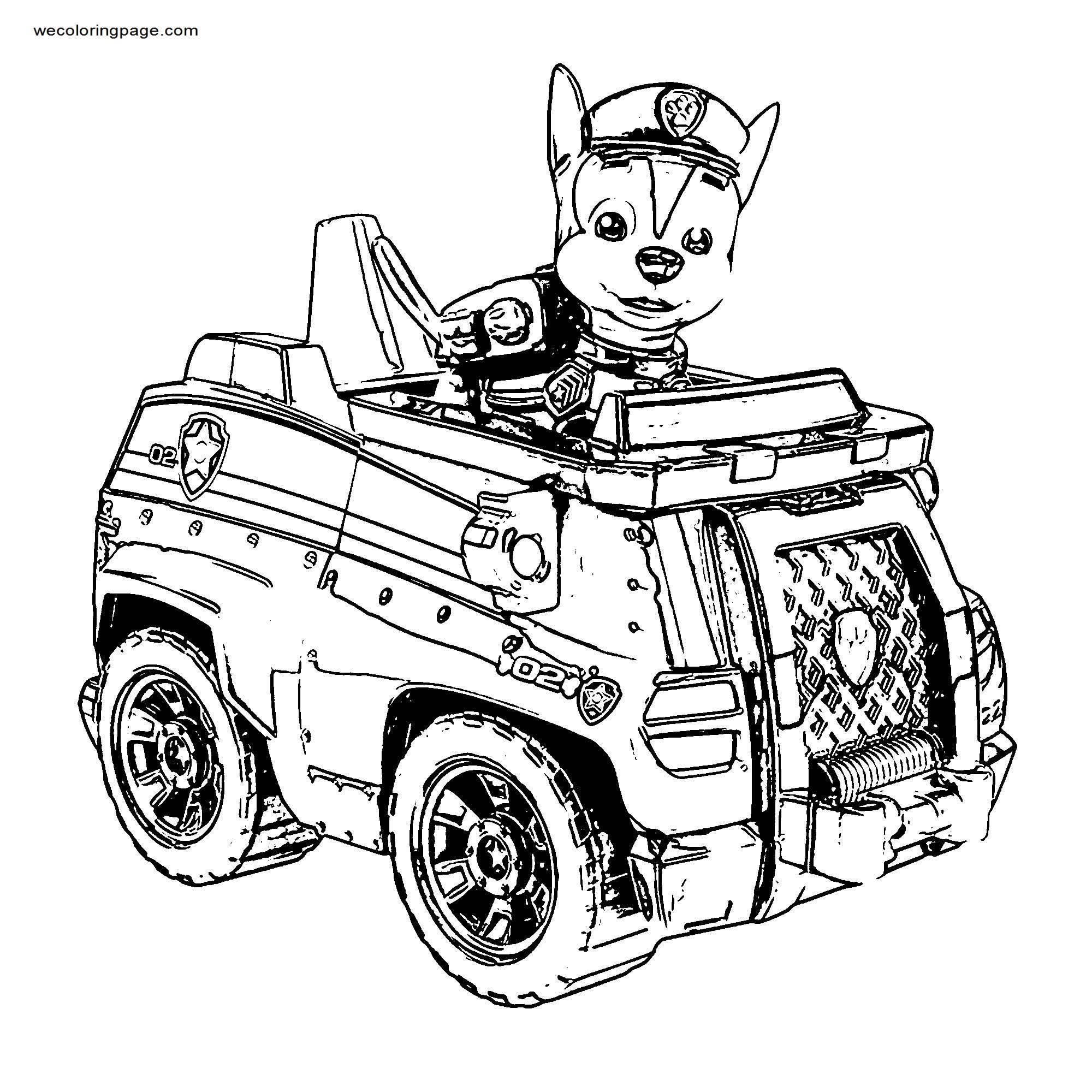 Paw Patrol Car Cf Coloring Page
