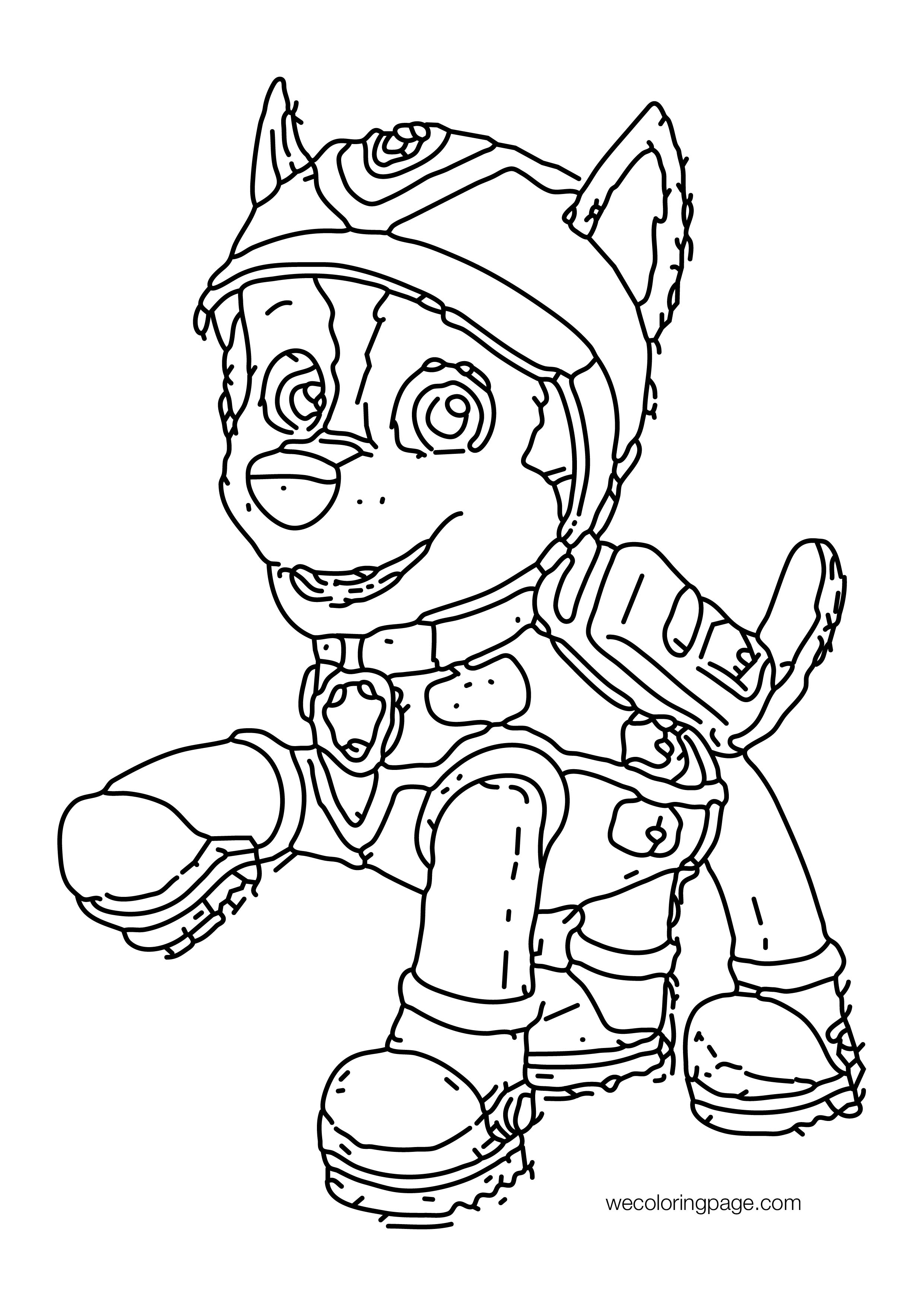Paw Patrol Line Outline Coloring Page Wecoloringpage Com