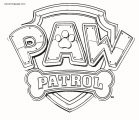 Paw Patrol Logo Style Coloring Page