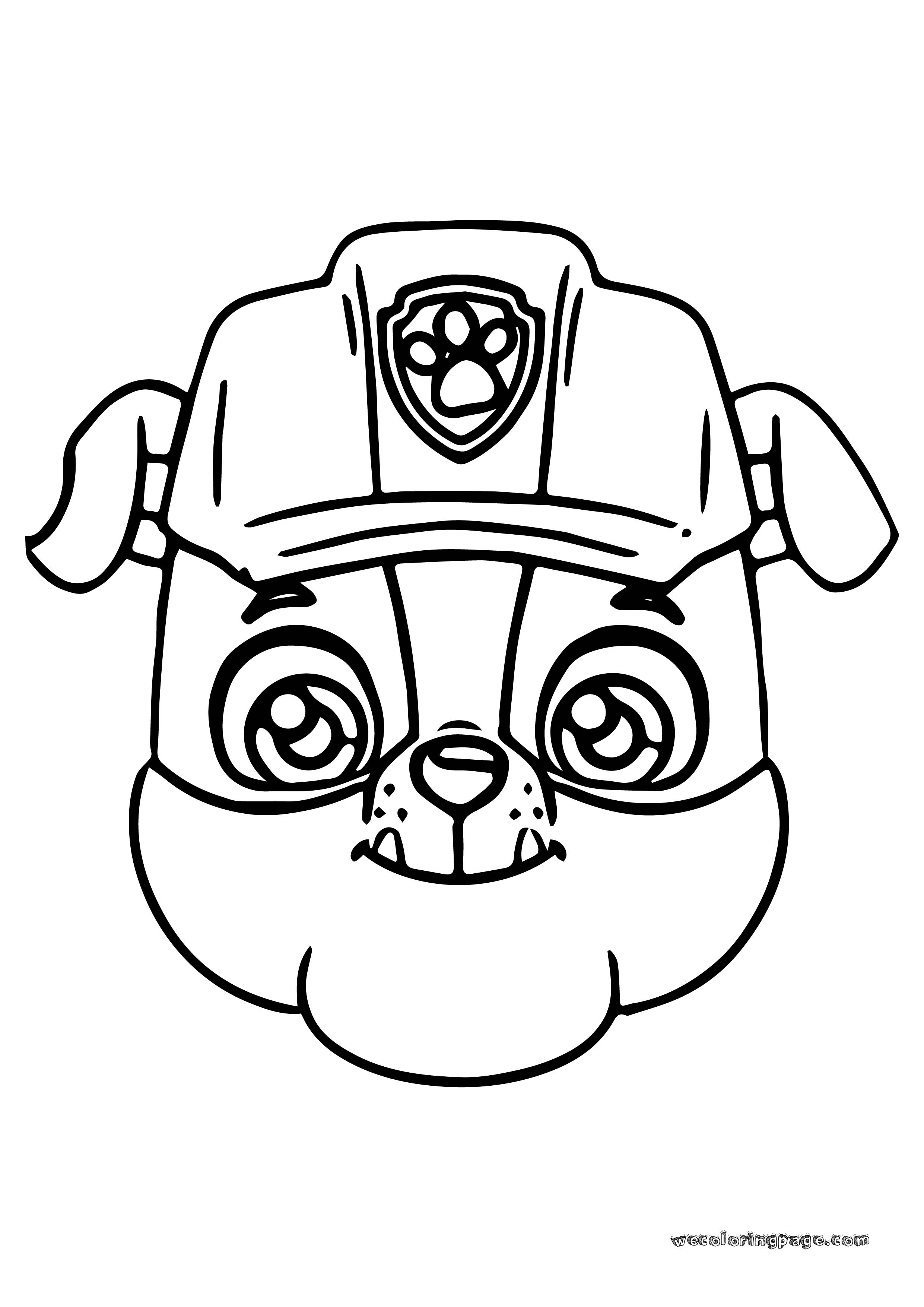 Paw Patrol Rubble Face Coloring