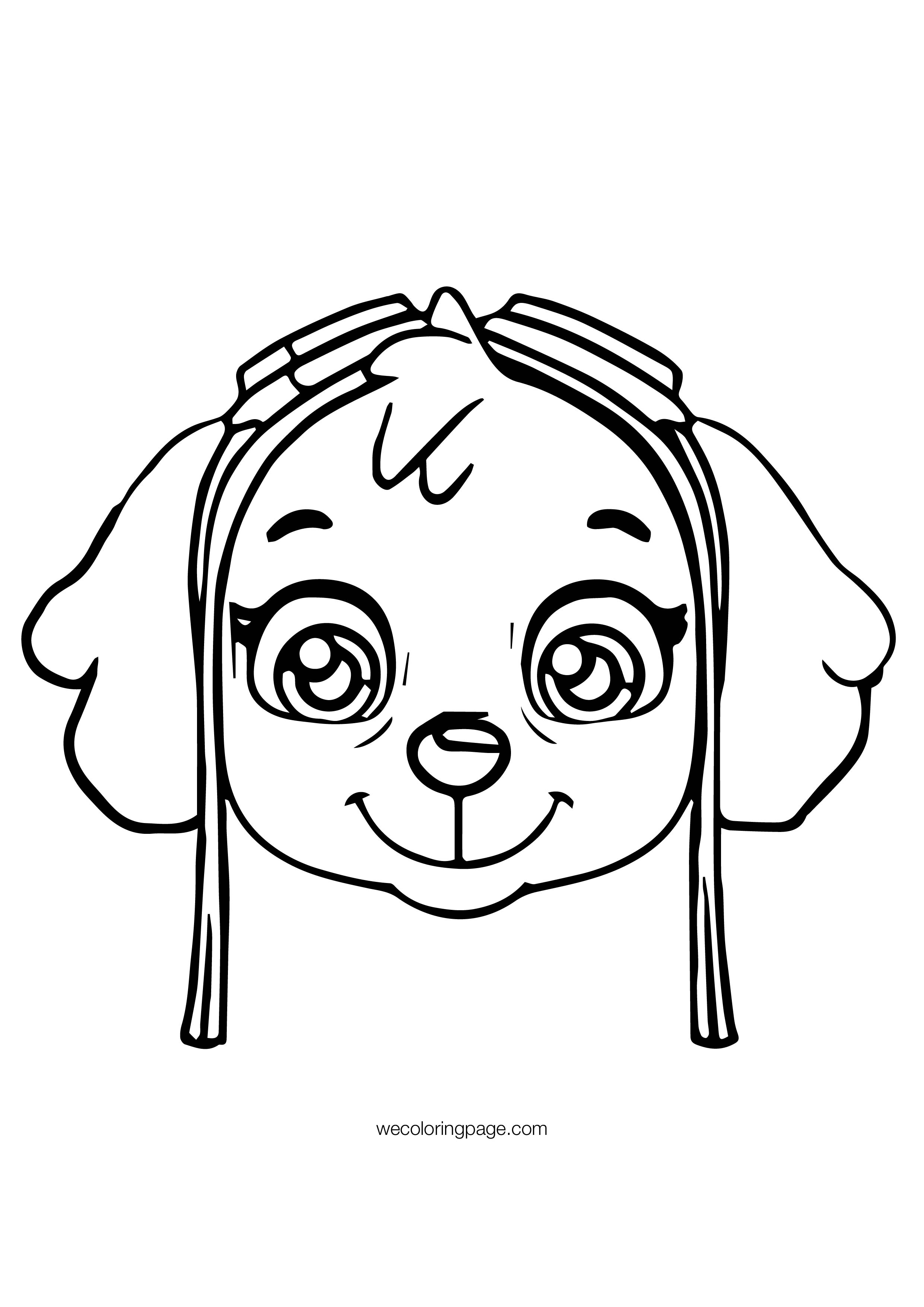 skye from paw patrol coloring pages   Paw Patrol Skye Face Patrol Coloring Page   Wecoloringpage.com