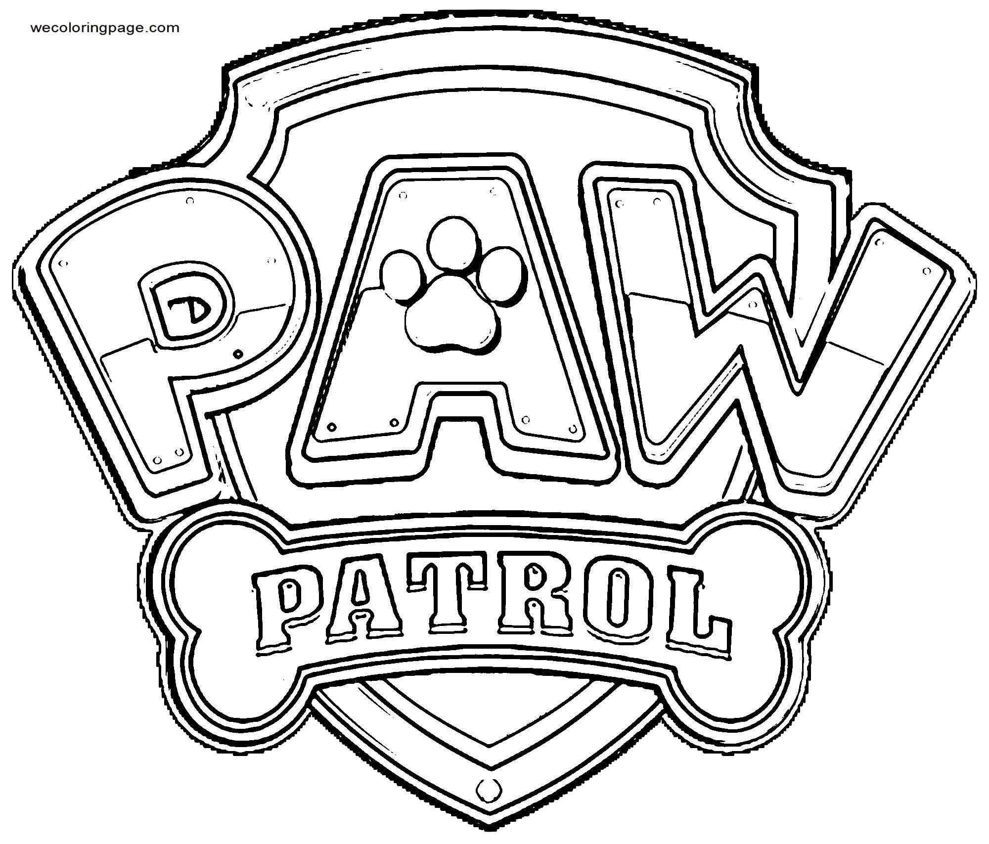 Pawpatrollogo Coloring Page