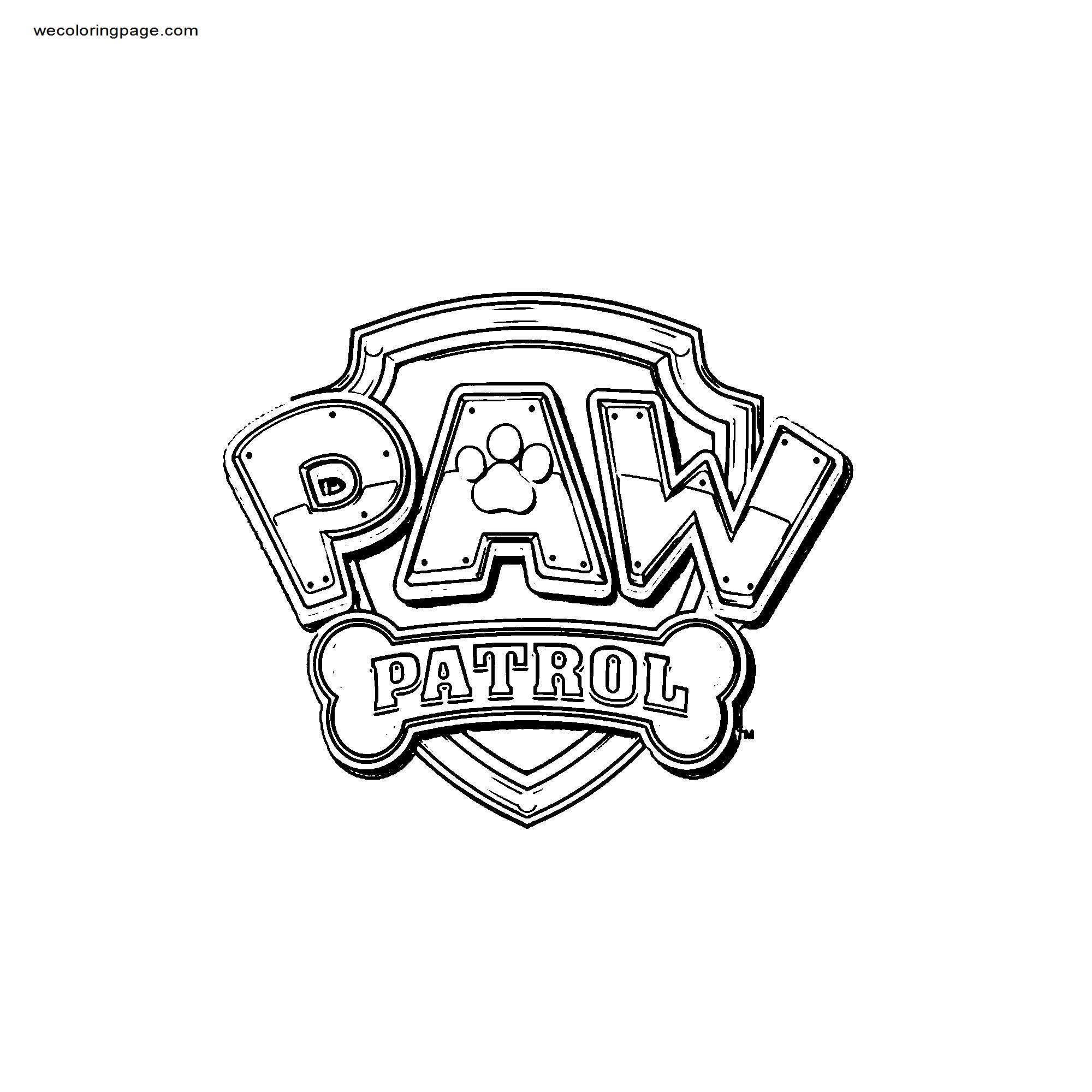 Pawpatrollogo Small Coloring Page