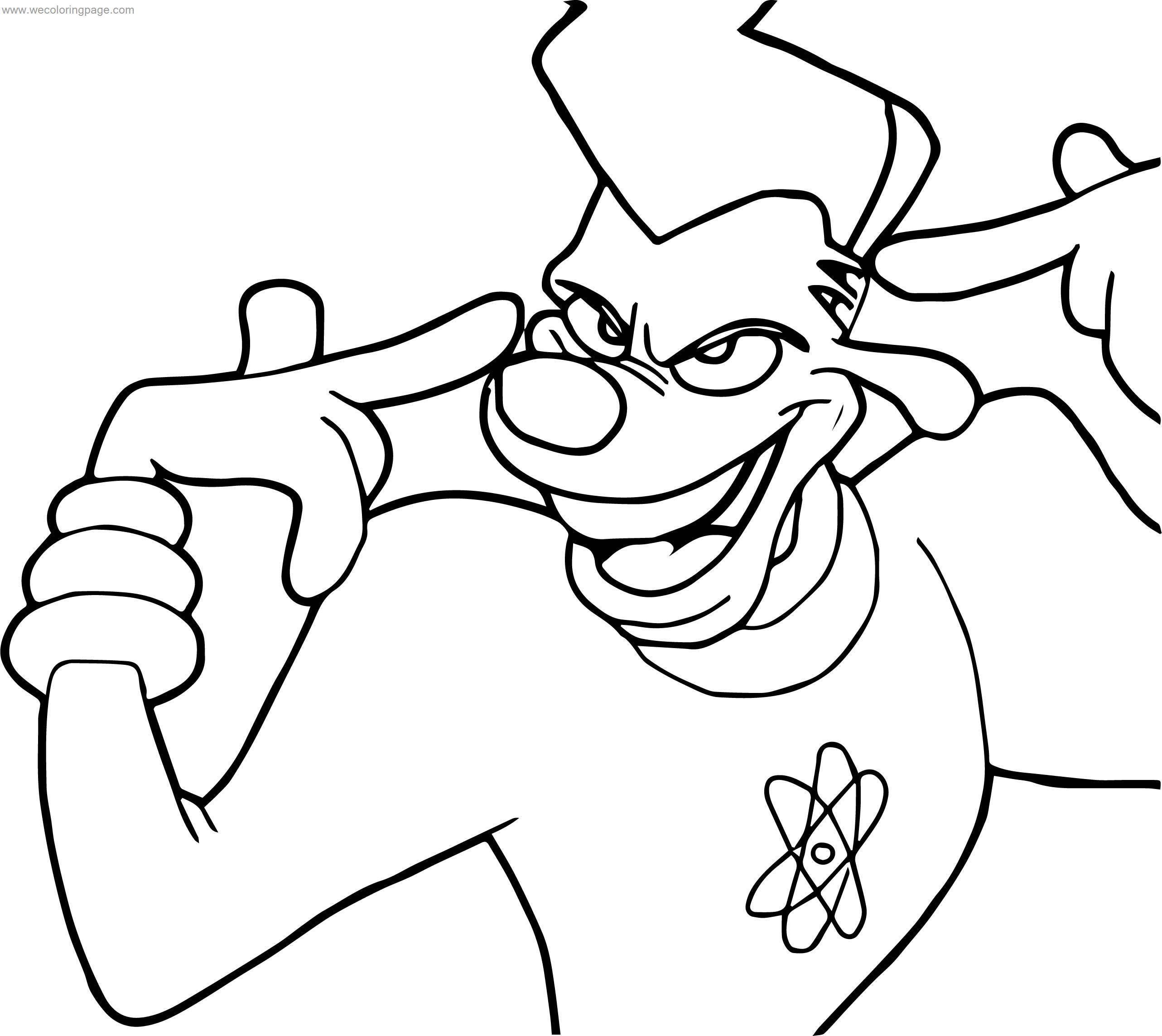 Powerline A Goofy Movie Think Coloring Page